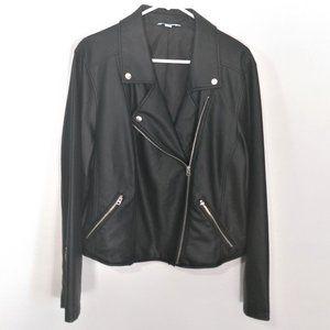 Boutique+ Plus JCPenney Faux Leather Moto Jacket